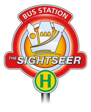 Sightseer bus station symbol